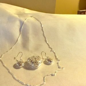 Stainless Silver Necklace Set